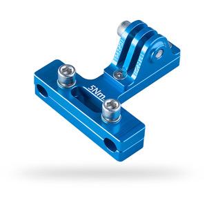 Camera mount, saddle rail, blue