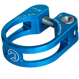 Performance seatpost clamp, 34.9, blue