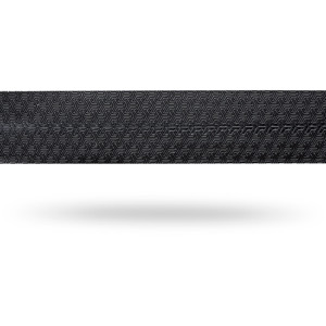 Race comfort PU bar tape with bar end plugs and fixing tape, black