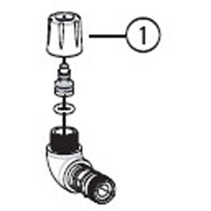Park Tool 1082 - head / hose compression fitting PFP-3
