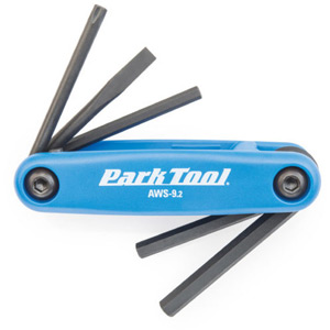 Park Tool AWS-9.2 - Fold-Up Hex Wrench & Screwdriver Set