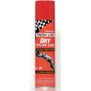 Finish Line Teflon Plus Dry Chain Lube 8 oz / 240 ml Aerosol