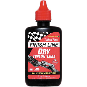 Finish Line Teflon Plus Dry Chain Lube 2 oz / 60 ml Bottle