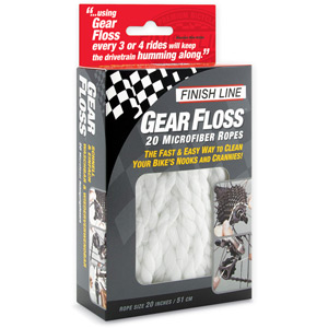 Finish Line Gear Floss, 20 pieces per clam-shell white