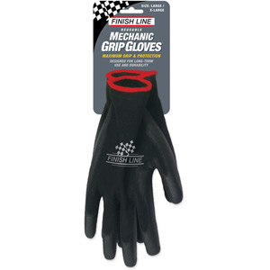 Finish Line Mechanic Grip Gloves (Large / XL) Black