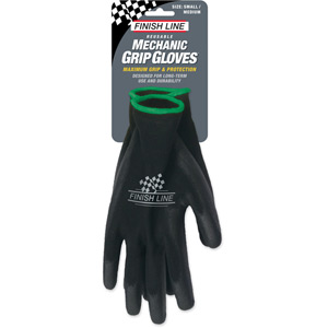 Finish Line Mechanic Grip Gloves (Small / Medium) Black