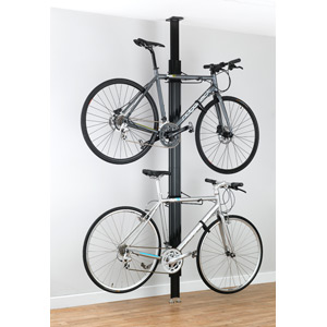 BUA aluminium Floor-to-Ceiling 2 to 4-bike rack black