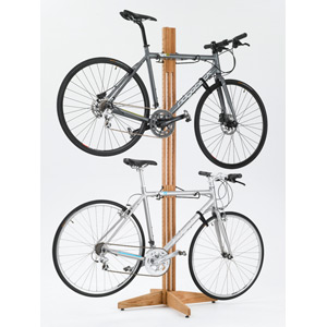 OakRak Freestanding 2 to 4-bike rack - Golden Pecan