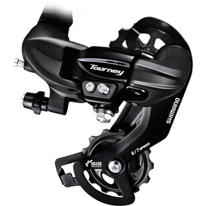 RD-TY300 6/7-speed rear derailleur with mounting bracket