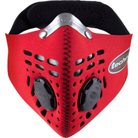 Techno mask red large