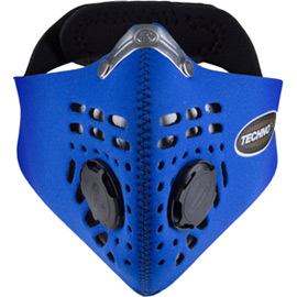 Techno mask blue medium