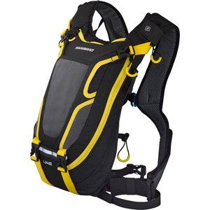 Unzen U4E, 4 litre hydration pack, w/o reservoir, black / yellow, Ltd Edition