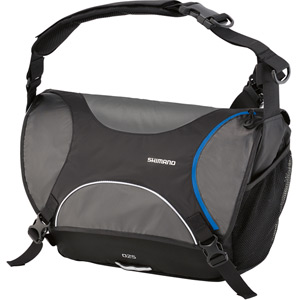 Osaka O25, 25 litre messenger bag, black / blue