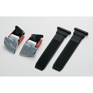 M310 / R310 buckle and strap set, silver / red