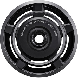 SM-CRE60 STEPS chainring for FC-E6000, black/silver, 38T with single chainguard