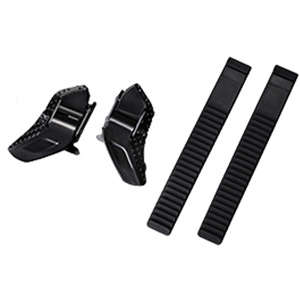 Low profile buckle and strap set, black