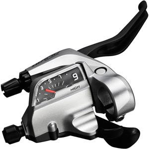ST-T4000 Alivio 3-speed Tap Fire Plus for V-brake, 3 finger left hand, silver