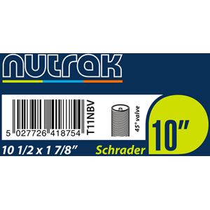 10 1/2 x 1 7/8 inch (270 x 47-203) Schrader inner tube with 45 degree valve