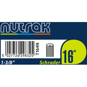 16 x 1 3/8th inch Schrader inner tube