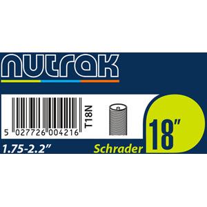 18 x 1.75 - 2.125 inch Schrader inner tube