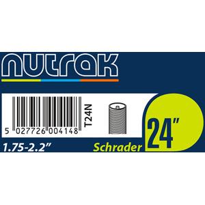 24 x 1.75 - 2.125 inch Schrader inner tube