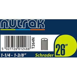 26 x 1-1/4 - 1-3/8 inch Schrader inner tube