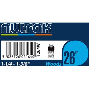 26 x 1-1/4 - 1-3/8 inch Woods inner tube