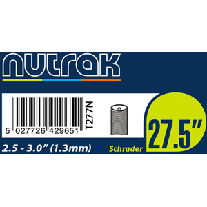 27.5 inch or 650B x 2.5 - 3.0 Schrader inner tube