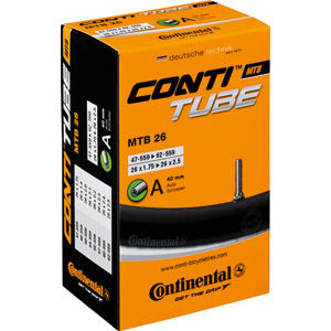 Continental MTB DH 26 x 2.3 - 2.7 inch Schrader inner tube black