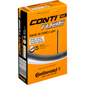 Continental R28 Light 700 x 20 - 25C Presta 80mm Extra Long valve inner Tube black