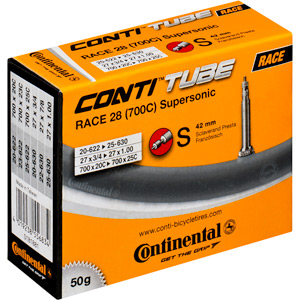 Continental R28 Supersonic 700 x 20 - 25C Presta inner tube black