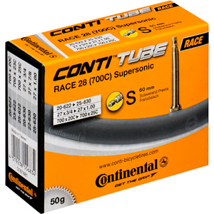 Continental R28 Supersonic 700 x 20 - 25C Presta 60mm valve inner tube black