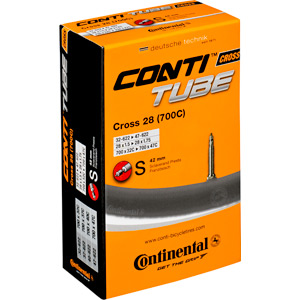 Continental Cross 700 x 32 - 42C Presta valve inner tube black