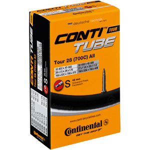 Continental Tour 28 light tube 700 x 32 - 47C Presta valve Inner Tube black