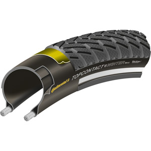 "Continental Top Contact Winter II Premium Reflex 26 x 2.2"" black folding tyre black"