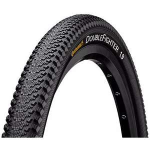 "Continental Double Fighter III 26 x 1.9"" Black Tyre black"