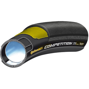 "Continental Competition Vectran 28"" x 22mm Black Chili Tubular Tyre black"