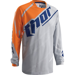 Phase Vented Youth jersey S16 Doppler cement / orange X-large