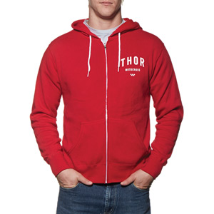 Shop pullover fleece hoody red small