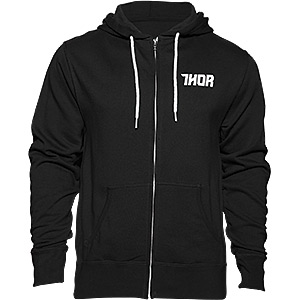 Driven zip-up fleece hoody black / white large
