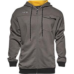 Mech zip-up fleece hoody grey / yellow medium