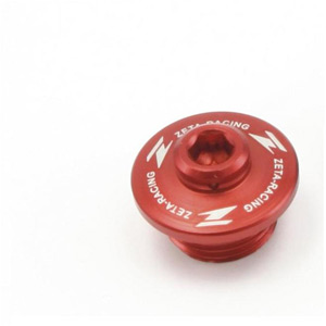 Oil filler plug Suzuki red
