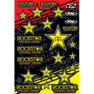 Rockstar Energy Sticker Sheet - Gold