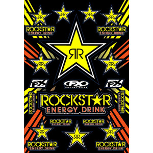 Rockstar Energy Sticker Sheet - Yellow