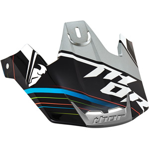 Verge Helmet spare peak Kit S15 Stack black / silver