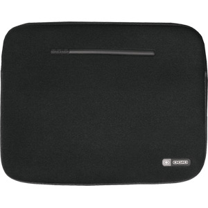 Neoprene laptop sleeve, 15 inch, black / silver