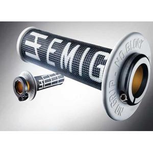Emig Racing Lock-On Grip 2-stroke black white