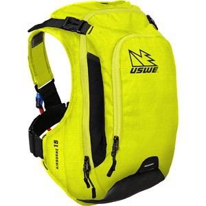 USWE Hydration Airborne 15 Hydration Pack 12L Cargo With 3.0L Shape-Shift Bladder Yellow yellow