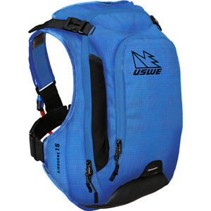 USWE Hydration Airborne 15 Hydration Pack 12L Cargo With 3.0L Shape-Shift Bladder Race Blue blue
