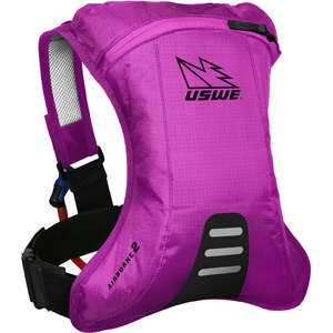 USWE Hydration Airborne 2 Hydration Pack With 2.0L Shape-Shift Bladder Go Pink pink
